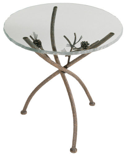 Pine Iron Tripod Table