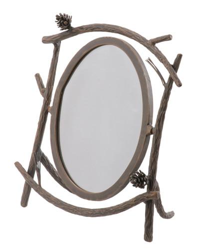 Pine Iron Table Mirror
