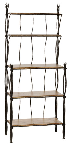 Rush Iron Bakers Rack 5 Tier