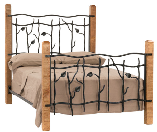 Sassafras King Iron Bed