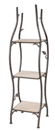 Iron Standing Shelf Sassafras Narrow
