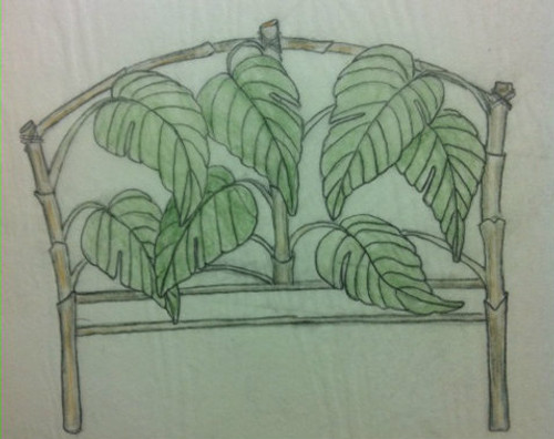 Custom Bamboo Leaf Bed