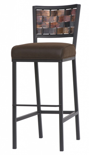 Rushton Iron Square Bar Stool