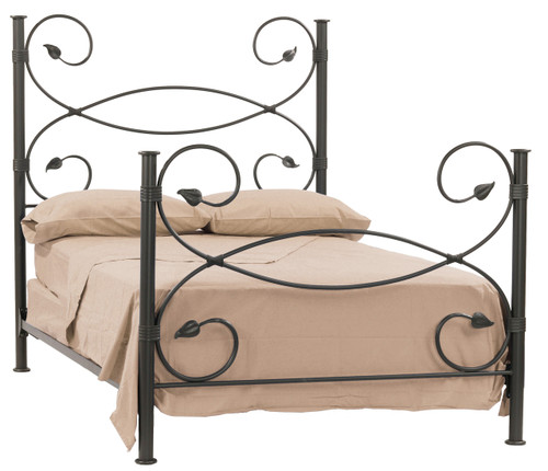 Leaf Hand Forged Iron Bed King Complete With Hb Fb Rails