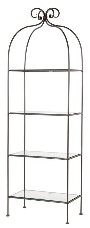 Wrought Iron Racks Shelves Four Tier Shelving Unit