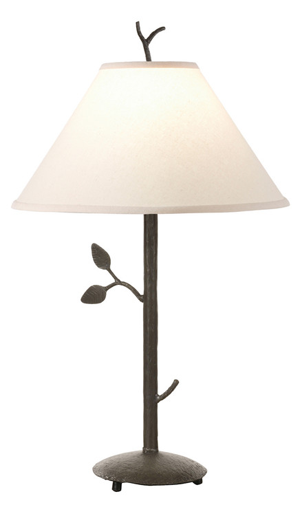 Leaf hand forged iron table lamp for Chevron shelf floor lamp