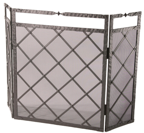 Custom Iron Fireplace Screens 3 Panel Fireplace Screens