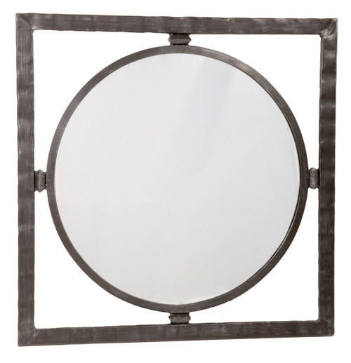 Forest Hill Hand Forged Iron Round Wall Mirror Small