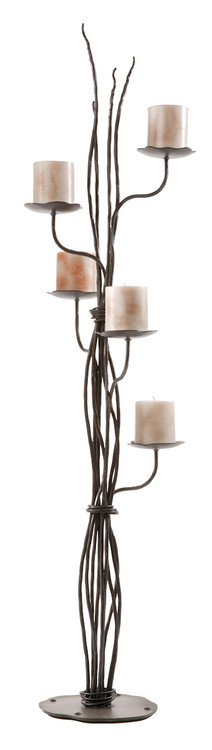 Wrought Iron Floor Candelabra Floor Standing Candle Holder