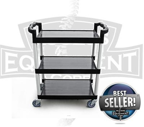 Plastic Three Shelf Cart