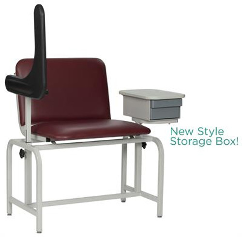 2574 Extra Large Padded Blood Drawing Chair with Cabinet