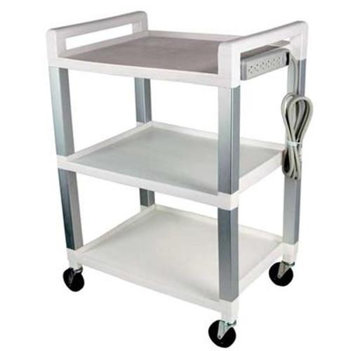UC320P  Poly- Aluminum Basic utility cart with power