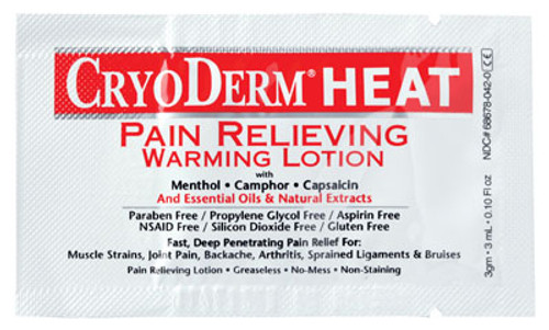 CryoDerm Heat Pain Relieving Products- 12 Samples/Pack