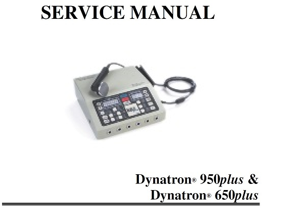 dynatron 950 plus service manual with schematics pdf download rh chirocity com Dynatron Ultrasound 150 Dynatron $850 Plus