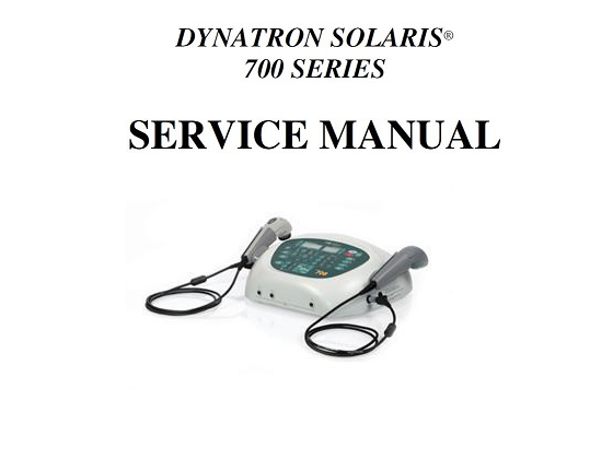dynatron solaris series service manual pdf download rh chirocity com Dynatron 550-Plus dynatron 150 plus ultrasound manual