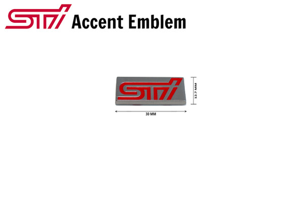 STI Mini chicklet accent emblem side skirt, front grill, rear trunk, interior console for Subaru models 2015 2016 2017 2018 WRX imprezza STI