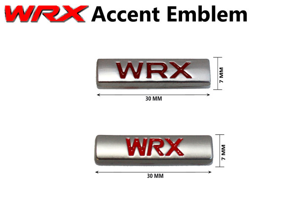 WRX mini chicklet plaque emblem for the Subaru Impreza WRX 2005 2006 2007 2008 2009 2010 2011 2012 2013 2014 2015 2016 2017 2018, WRX side skirt emblem, WRX front grill emblem, WRX mini accent emblem