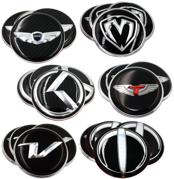 Wheel cap emblem set overlay Wheel cap emblems for 59mm or 60mm OEM wheel caps