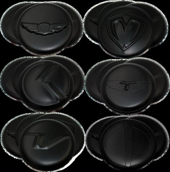 Black Wheel cap emblem set overlay Wheel cap emblems for 59mm or 60mm OEM wheel caps