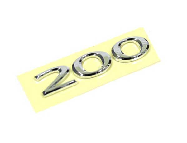 200 emblem ABS chrome plated car emblem