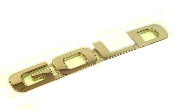 GOLD letter OEM car emblem
