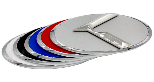 LODEN 3.0 K Badges (CHROME EDGE) for Kia Models (100+ Colors)