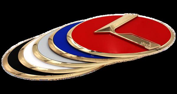 LODEN 3.0 K Badges (GOLD EDGE) for Kia Models (100+ Colors)