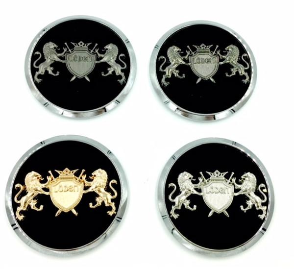 """LION """"Coat of Arms"""" Wheel Cap Emblem Set 4pc for GM Models  (5 Colors)"""