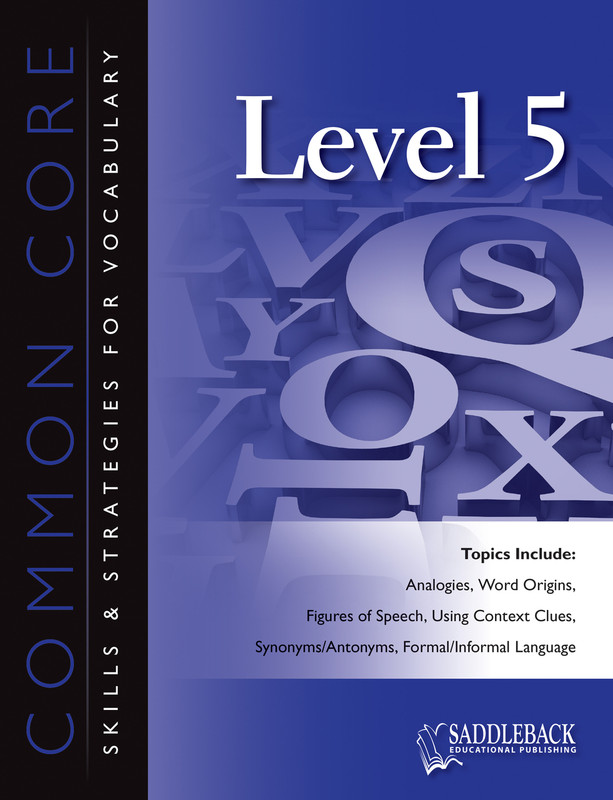 Common Core Skills & Strategies for Vocabulary Level 5 (Digital Download)