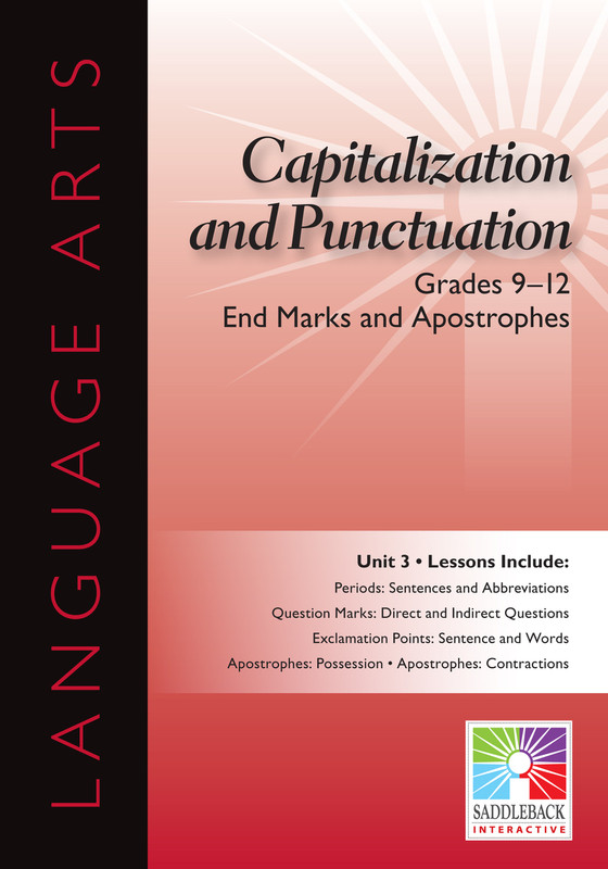 End Marks and Apostrophes- Grades 9-12 (Digital Download)