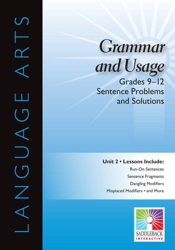Sentence Problems and Solutions- Grades 9-12 (Digital Download)