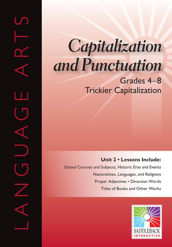 Trickier Capitalization- Grades 4-8 (Digital Download)