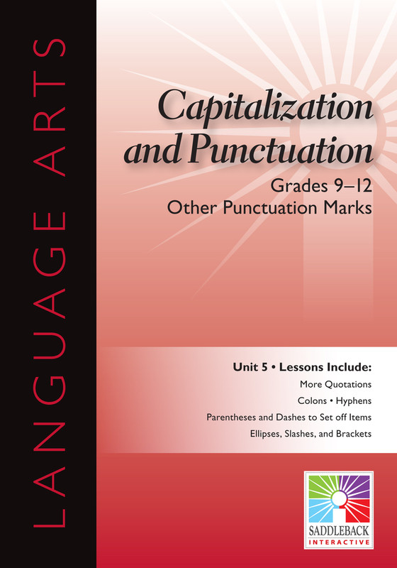 Other Punctuation Marks- Grades 9-12(Digital Download)