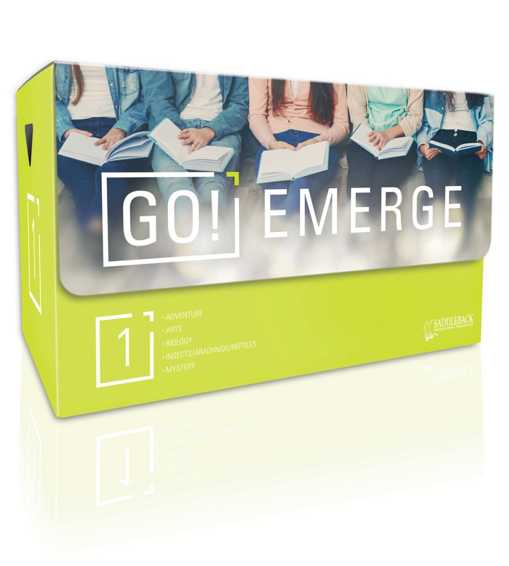 Tween Emergent Reader Libraries: GO! Emerge (Set Contains 3 Each of 20 Titles--60 Books, plus teacher's guide)
