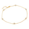 4MM BEZEL CZ ROSE GOLD PLATED BY THE YARD ANKLET 9.5+1""