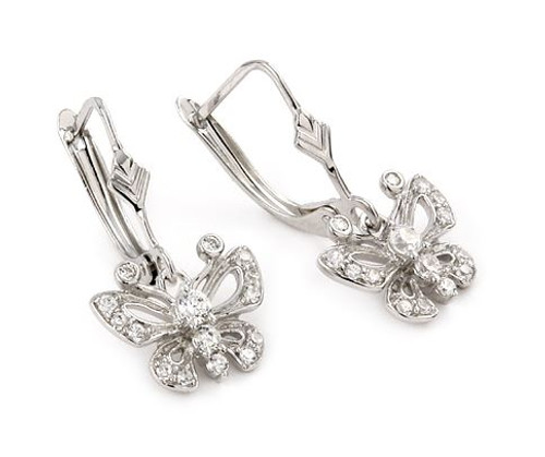 FINE CZ BUTTERFLY EARRINGS ECZ1070