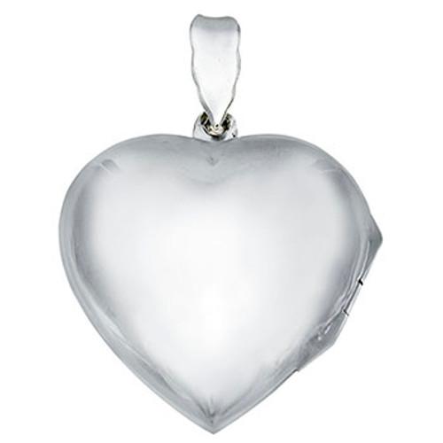 STERLING SILVER PLAIN HEART LOCKET PENDANT