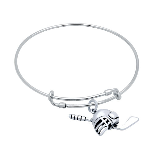 STERLING SILVER EXPANDABLE HOCKEY CHARM BANGLE