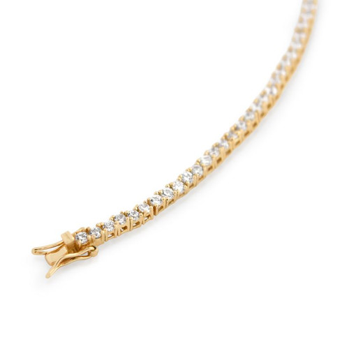 2.5MM GOLD PLATED CZ TENNIS BRACELET 7""