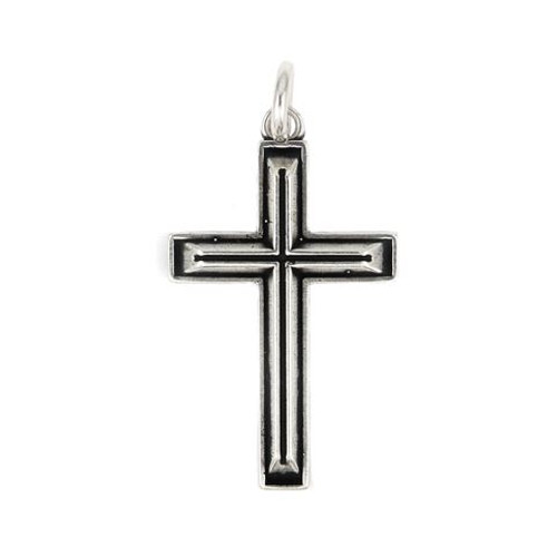 PLAIN SMALL OUTLINED CROSS CHARM