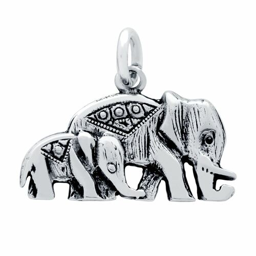 ELEPHANT AND CALF CHARM
