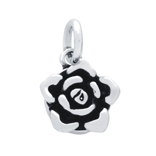 DOUBLE-SIDED HEART AND FLOWER CHARM