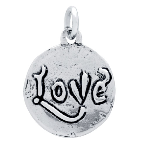 DOUBLE-SIDED LOVE AND CUPID MEDALLION CHARM