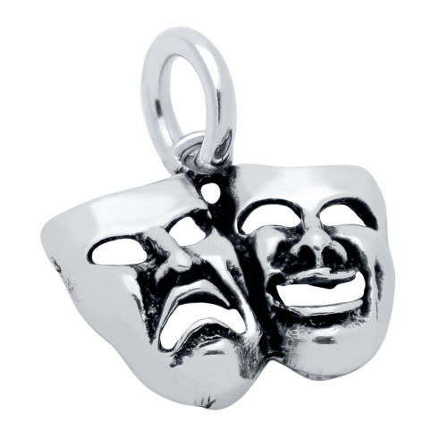 COMEDY AND TRAGEDY MASKS CHARM
