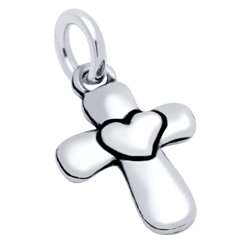 SMALL CROSS AND HEART CHARM