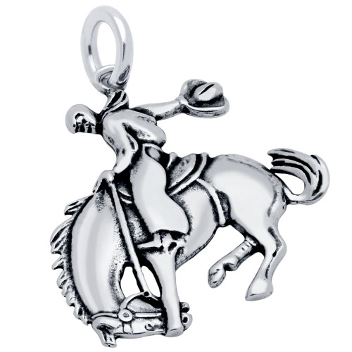 RODEO HORSE AND RIDER CHARM