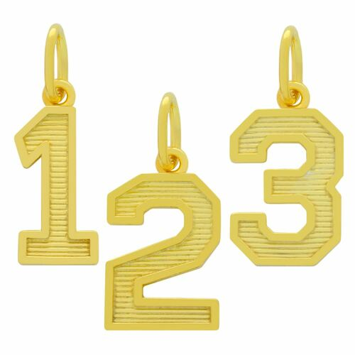 GOLD PLATED NUMBER CHARM