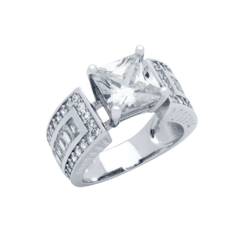 8MM PRONG SETTING CZ RING