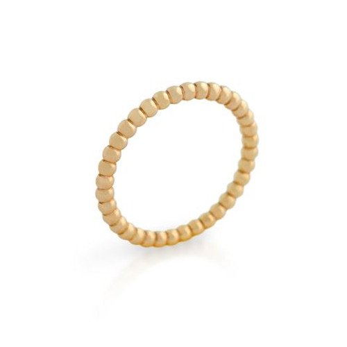 ROSE GOLD PLATED BEAD DESIGN STACKABLE BAND (SZ 4-8)