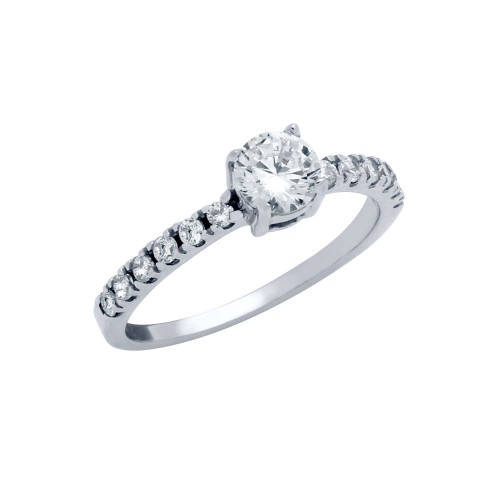 5MM ROUND CZ SOLITAIRE RING
